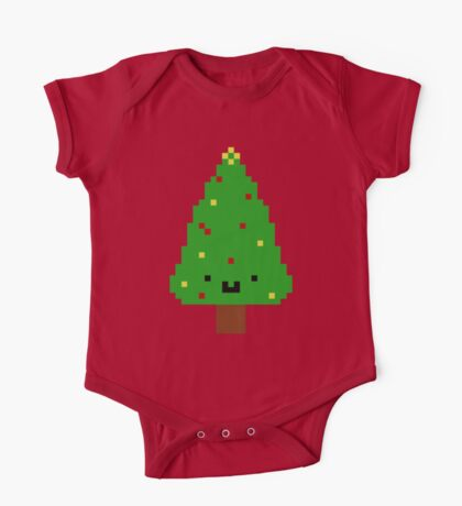 Cute Christmas Pixel Tree Kids Clothes