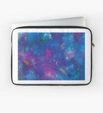 Blue splattery space Laptop Sleeve