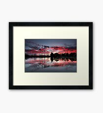 Fire In The Sky II Framed Print