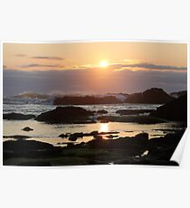 Sunset At Seal Rock Poster