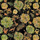 Pastel Tones Vintage Floral Design by artonwear