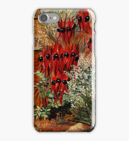 Sturt Desert Pea iPhone Case/Skin