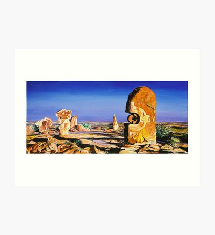 Broken Hill Sculptures Art Print