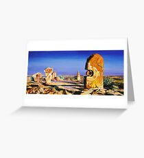 Broken Hill Sculptures Greeting Card