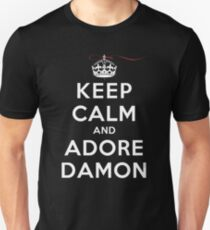Keep Calm and Adore Damon From Vampire Diaries DS T-Shirt