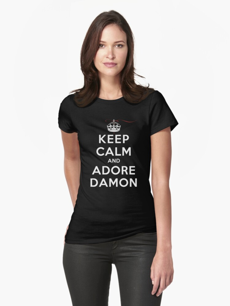 Keep Calm and Adore Damon From Vampire Diaries DS by rachaelroyalty