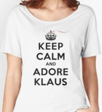 Keep Calm and Adore Klaus From Vampire Diaries LS Women's Relaxed Fit T-Shirt
