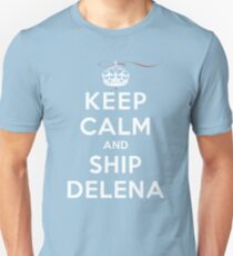Keep Calm and SHIP Delena (Vampire Diaries) DS Unisex T-Shirt