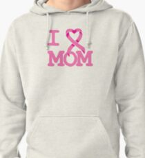 I Heart MOM - Breast Cancer Awareness Pullover Hoodie