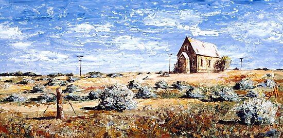 St Carthage: Silverton Outback Australia by Sue Hodge
