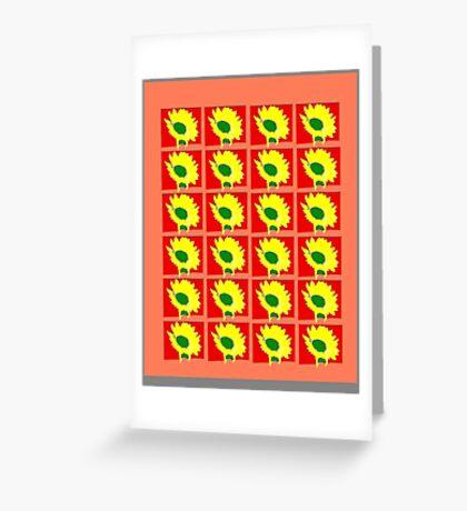 Sunflower Pattern Greeting Card