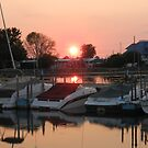 Marblehead Harbor Sunset by lindybird