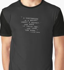 A Photograph Is A Secret Embossed Labels Graphic T-Shirt
