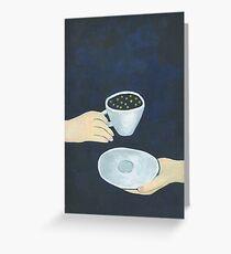 Star coffee Greeting Card