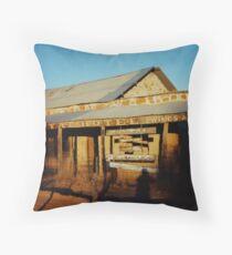 The Royal Hotel Ruins. Birdsville, Central West Queensland, Australia. Throw Pillow