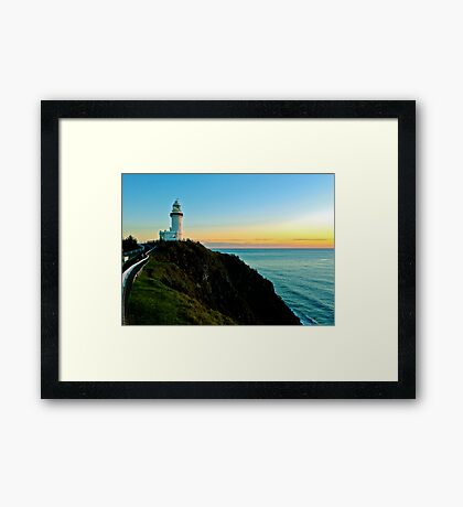 At The Lighthouse Framed Print