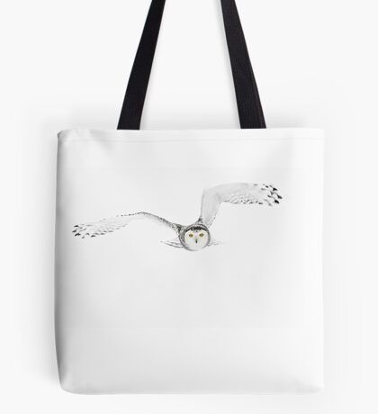 Eyes on the prize - Snowy Owl Tote Bag