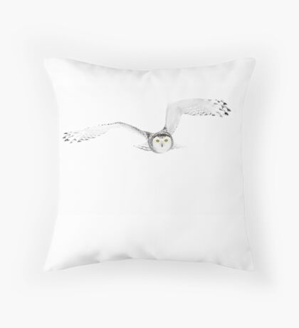 Eyes on the prize - Snowy Owl Throw Pillow