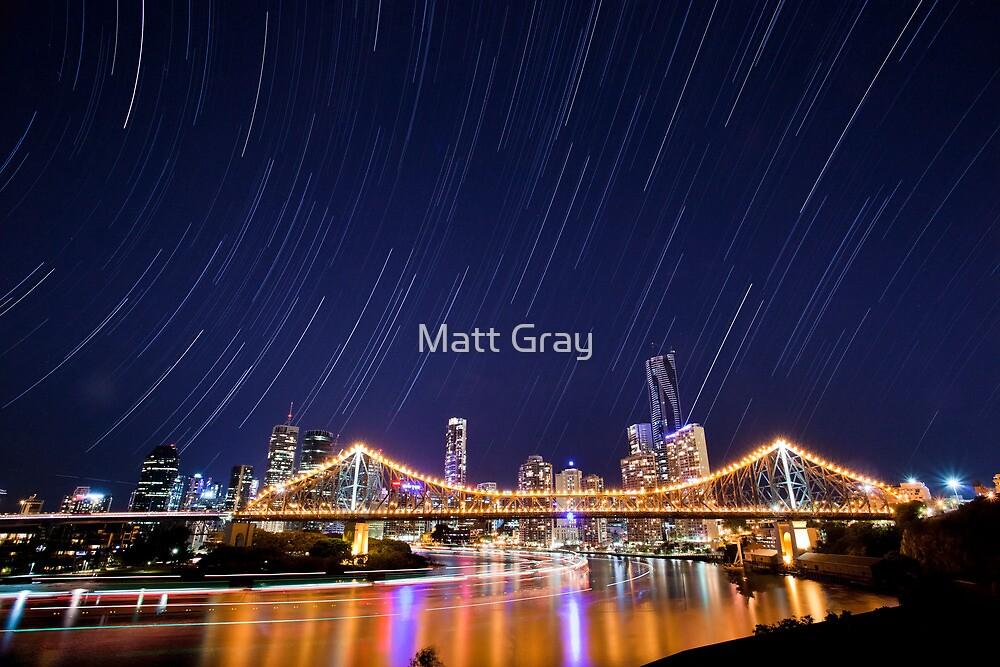 Brisbane City Star Trails by Matt Gray
