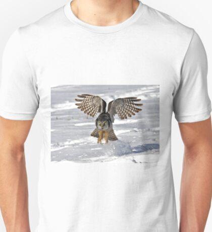 Snow Blast - Northern Hawk owl T-Shirt