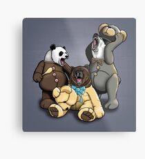 The Three Angry Bears Metal Print