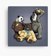 The Three Angry Bears Canvas Print