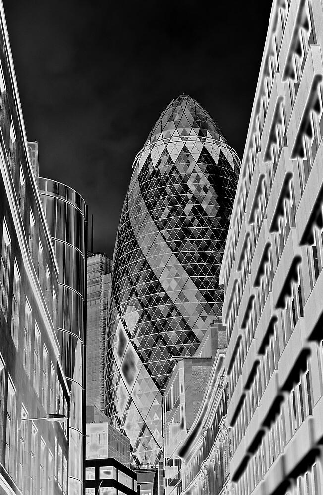 The Gherkin Building London by DavidHornchurch