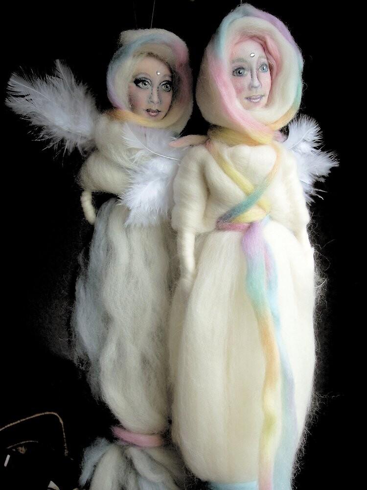 wool angel dolls by Lilaviolet