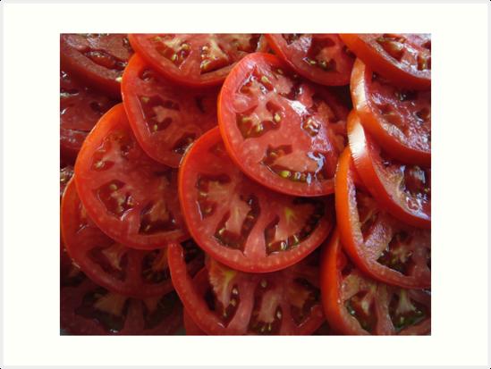 Sliced Tomatoes by FrankieCat
