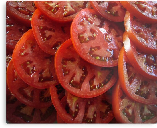 Sliced Tomatoes by FrankieCat