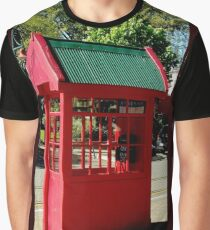 Red Telephone Box Christchurch  New Zealand Graphic T-Shirt