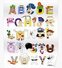 Breakfast Mascot Alphabet Poster