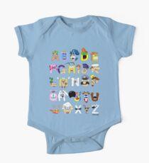 Breakfast Mascot Alphabet Kids Clothes