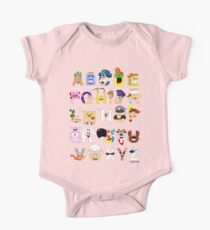 Breakfast Mascot Alphabet One Piece - Short Sleeve