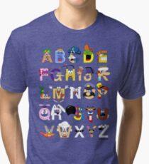 Breakfast Mascot Alphabet Tri-blend T-Shirt