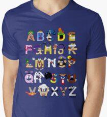 Breakfast Mascot Alphabet Men's V-Neck T-Shirt
