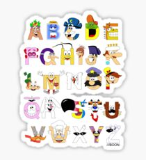 Breakfast Mascot Alphabet Sticker