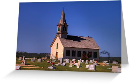 The Old Rock Church and St. Olaf's Cemetery by Terence Russell