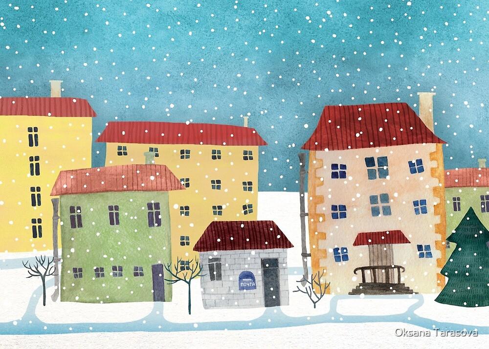 Snow city by Oksana Tarasova