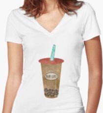 Bub Life Women's Fitted V-Neck T-Shirt