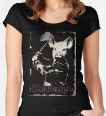 Revenge vegetarian, vegan shirt Women's Fitted Scoop T-Shirt