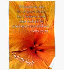 I Believe God! Poster