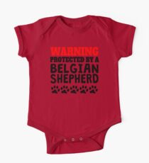 Protected By A Belgian Shepherd One Piece - Short Sleeve
