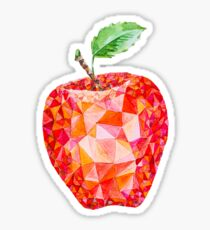 Low Poly Watercolor Apple Sticker