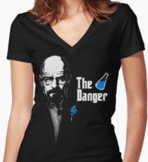 The Godfather of Danger Women's Fitted V-Neck T-Shirt