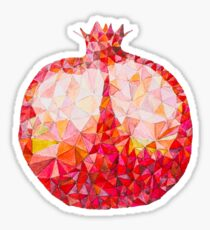 Low Poly Watercolor Pomegranate Sticker