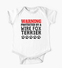 Protected By A Wire Fox Terrier One Piece - Short Sleeve