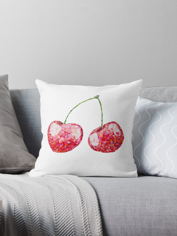 Low Poly Watercolor Cherries by LidiaP