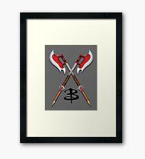 Buffy -- Scythes Crossed Framed Print