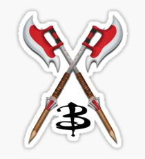 Buffy -- Scythes Crossed Sticker